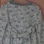 Robe Minju bleue- dos