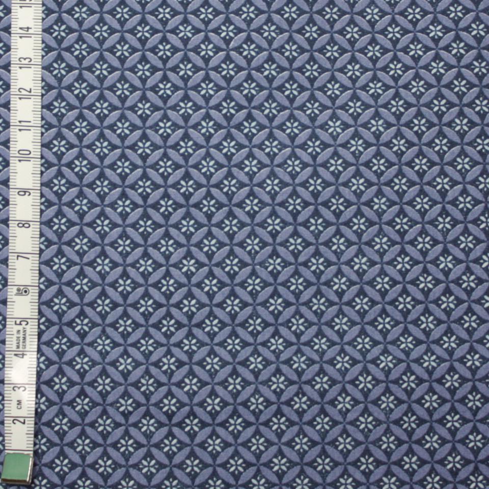 Fond bleu motifs bleus