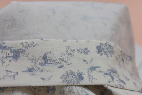 Robe Minju bleue- ourlet
